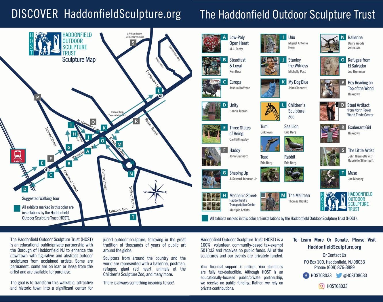 HOST - Sculpture Map Walking Tour